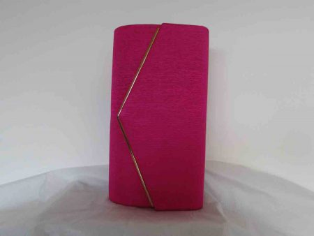 Clutch bag in fucshia pink