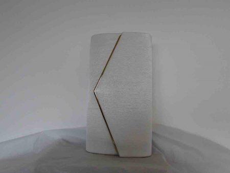 Clutch bag in white
