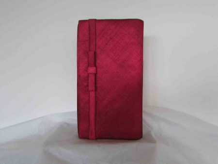 Sinamay bag in burgandy