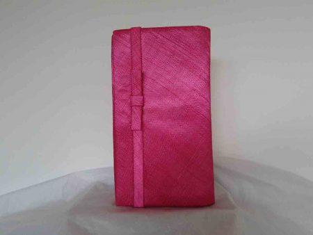 Sinamay bag in cerise