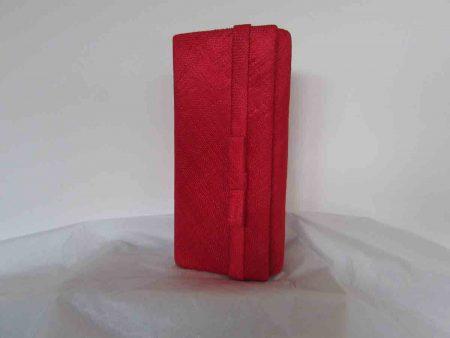 Sinamay bag in poppy red