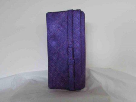 Sinamay bag in purple