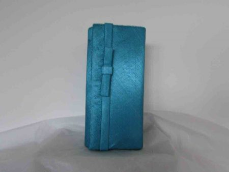 Sinamay bag in azure turqouise