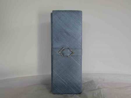 Sinamay clutch bag in airblue