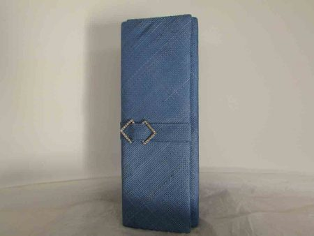 Sinamay clutch bag in bluebell
