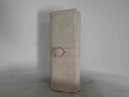 Sinamay clutch bag in birch