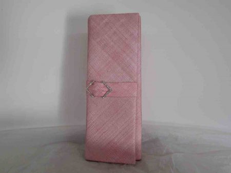 Sinamay clutch bag in confetti pink