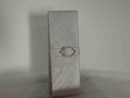 Sinamay clutch bag in silver