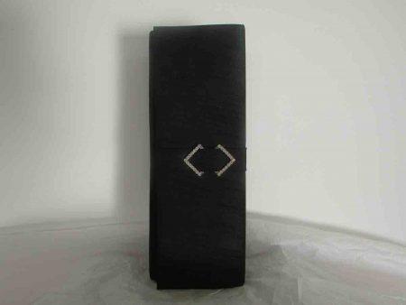 Silk clutch bag in  black