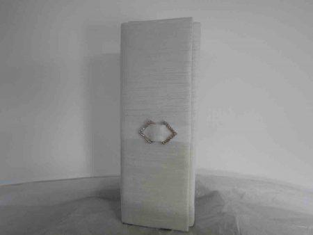 Silk clutch bag in ivory