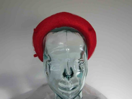 Padded hairband facinator in poppy red