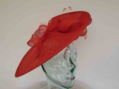 teardrop fascinator in burnt orange