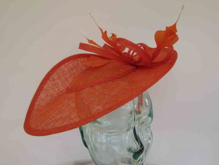 Three quarter brim hatinator in persimmon orange
