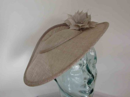 Three quarter brim hatinator in almond
