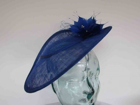 Three quarter brim hatinator in cobalt blue