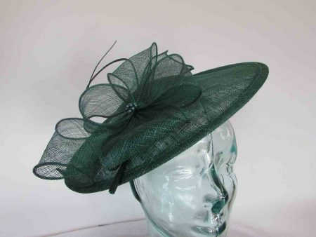 Simanay hatinator with flower in bottle green