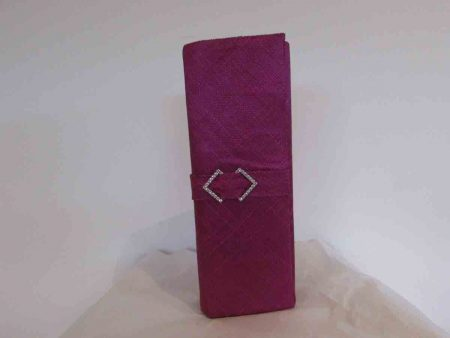 Sinamay clutch bag in berry