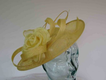 Oval hatinator with double quill in bright yellow