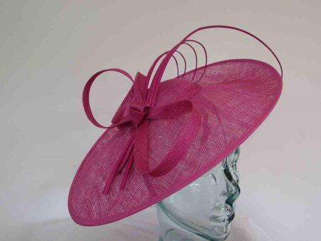 Oval hatinator with 5 quills in magenta pink