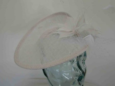 Three quarter brim hatinator in white