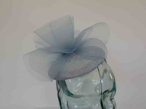 Pillbox fascinator with crin twist in bluebell
