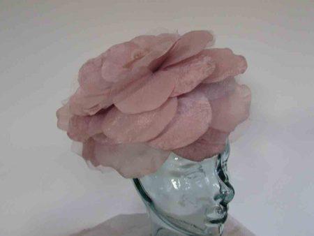 Large single flower fascinator in petal pink