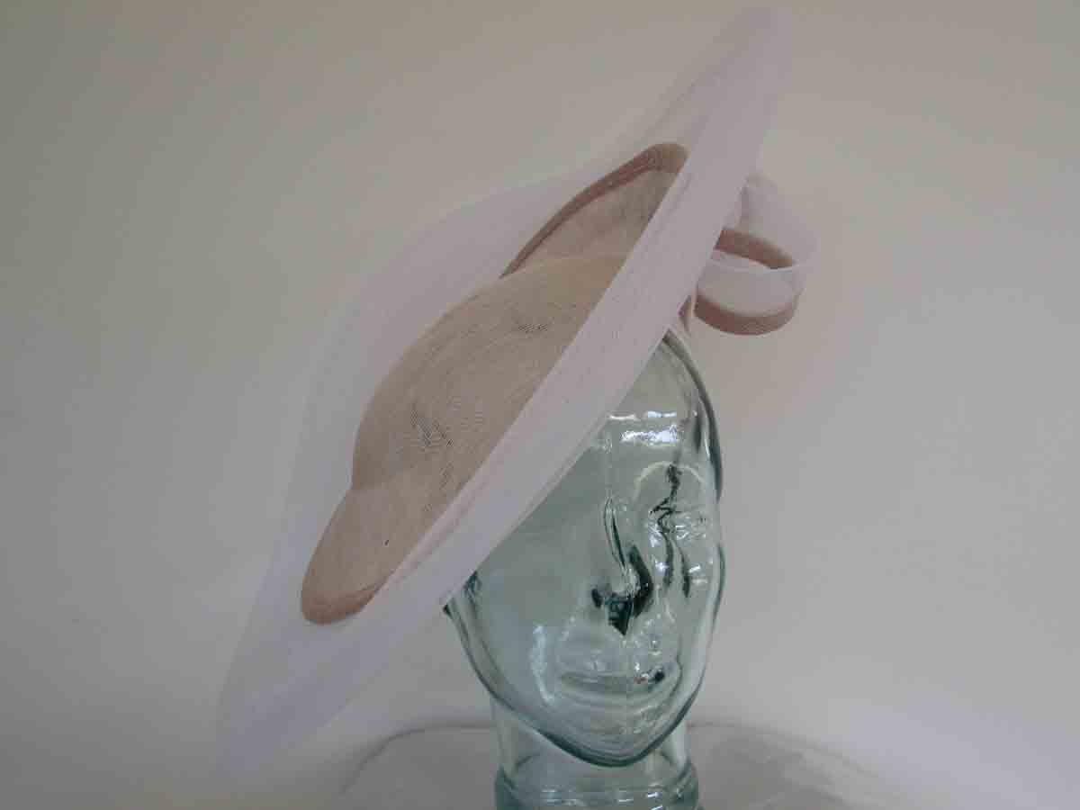 Sorbet pink hatinator with crin trim in white