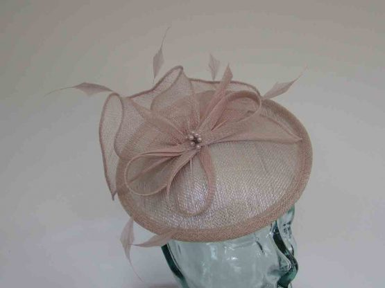 Small hatinator in metallic pink sorbet