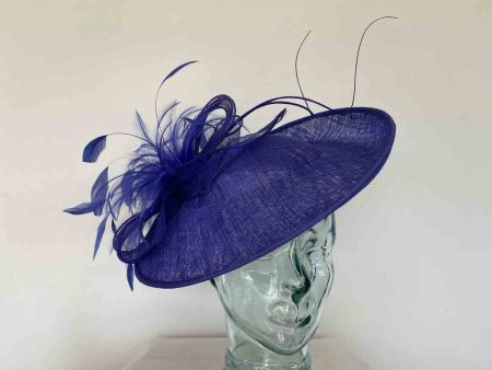 Hatinator with spiral quill in cobalt blue